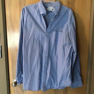 Old Navy Reg Fit Blue Long Sleeve Button Shirt SzL